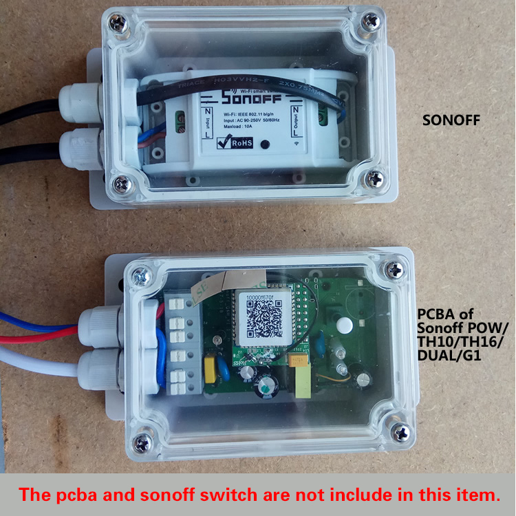 Sonoff IP66 Waterproof Cover Case for Sonoff Basic/RF/Dual/Pow/TH16/Pow R2/G1 Smart Home Automation