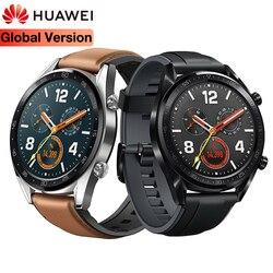 Оригинальные универсальные Смарт-часы HUAWEI GT, водонепроницаемые, поддержка средства для отслеживания сердечного ритма, gps, мужской спортивн...