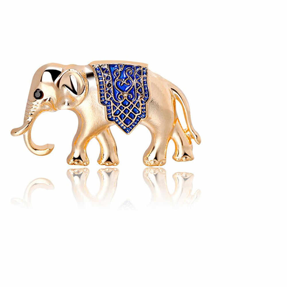 Ellenmar Gajah Lucu Enamel Bros Pin Lencana Diy Jeans Pakaian Topi Tas Dekorasi Hadiah untuk Anak Perempuan Anak-anak