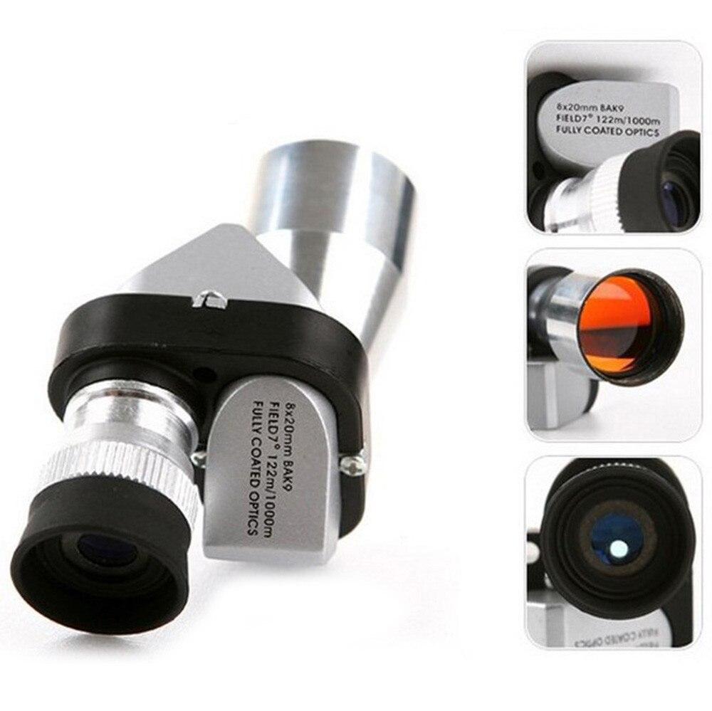 Телескоп металлический оптический с одной трубкой, телескоп мини монокулярный для рыбалки на открытом воздухе, 8x20 HD
