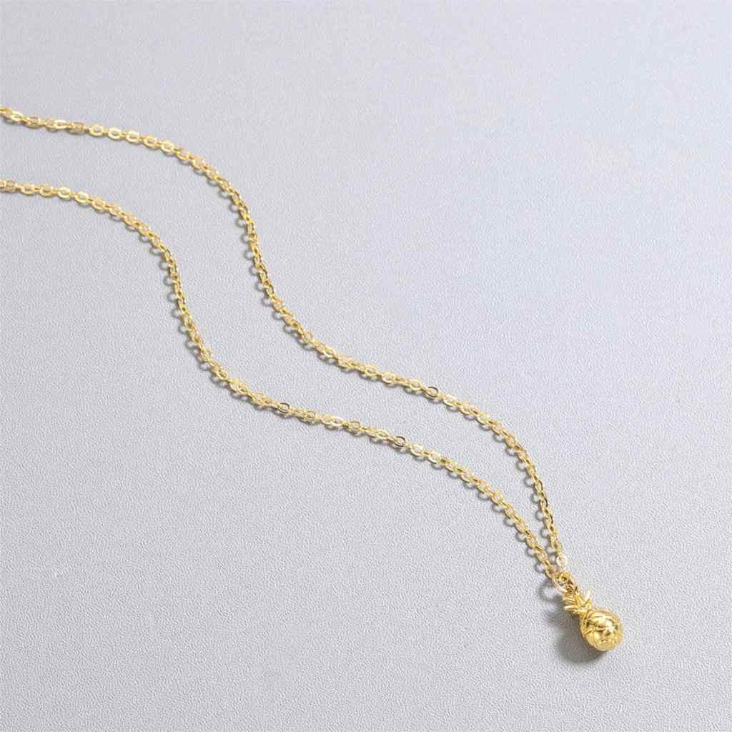 Kinitial naszyjnik ze stali nierdzewnej ananas owoce tropikalne urok prezent biżuteria dla dziewczyn kobiet proste akcesoria biżuteria