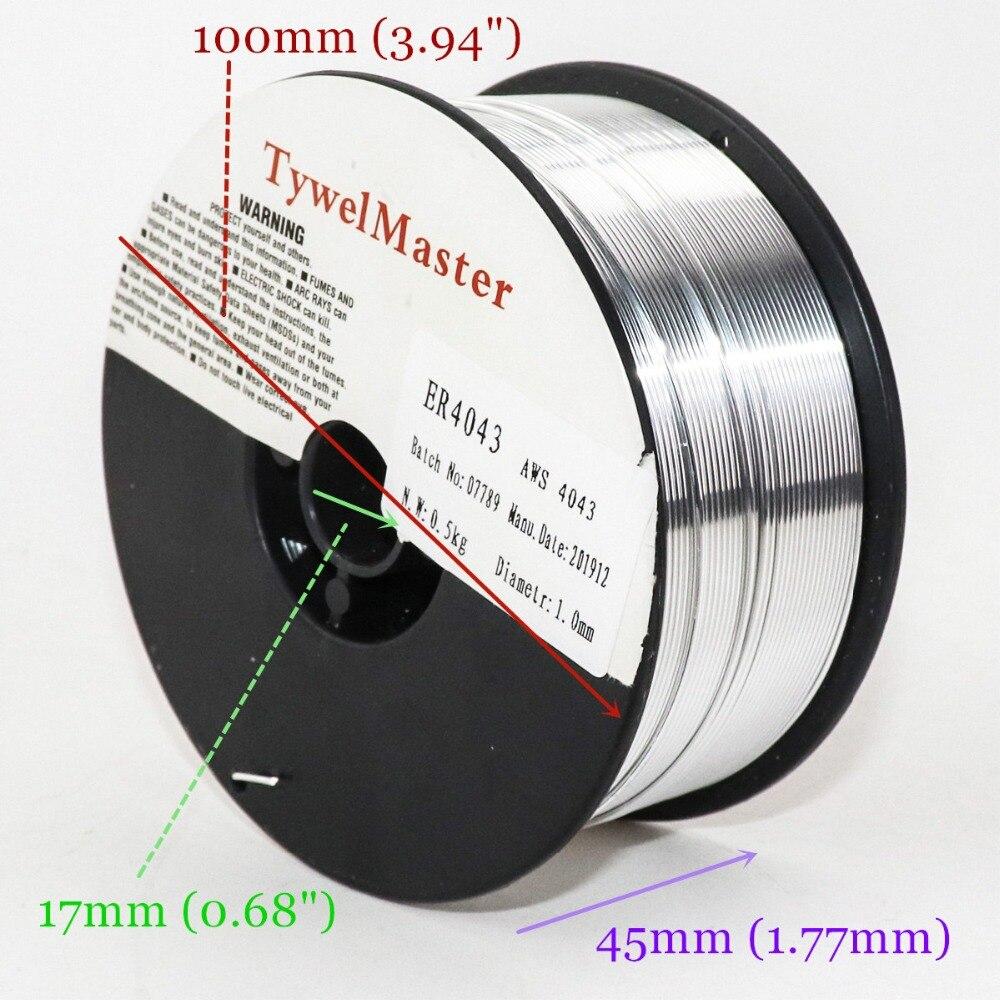 Cable de soldadura de aluminio, AWS A5.10 ER5356 0,5 KG de diámetro, 0,8/1,0/1,2mm, 5356 MIG Wire
