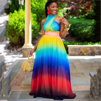 African Maxi Dresses For Women 2020 Dashiki Robe Summer Plus Size Long Dress Ladies Traditional African Clothing Fairy Dreams