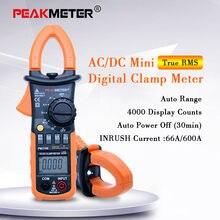 PEAKMETER-medidor de temperatura PM2108 medidor de pinza Digital w/unidad de tierra con retroiluminación, medidor de resistencia a la tierra, multímetro