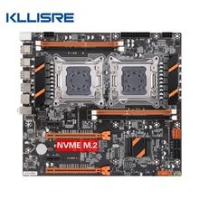 Kllisre X79 çift CPU anakart LGA 2011 E ATX ana kurulu USB3.0 SATA3 PCI E 3.0 16X PCI E NVME M.2 SSD desteği xeon işlemci