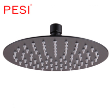 6/8/10/12 Inch Round Stainless Steel Ultra-thin Showerheads & Rainfall Shower head Water Saving Shower Heads. jieni 8 inch square stainless steel ultra thin shower heads rainfall shower head rain shower not includes shower arm returned