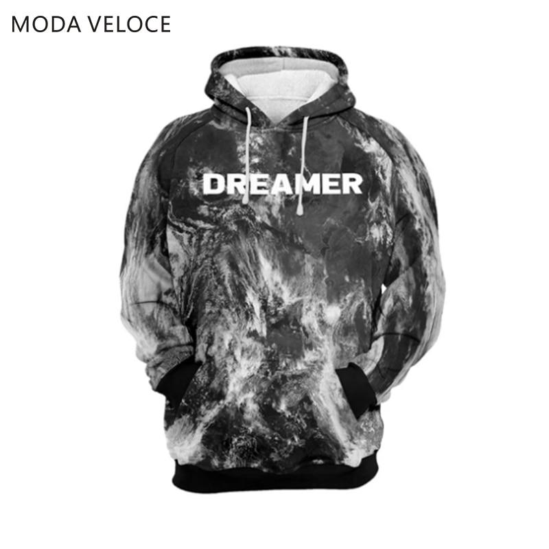 Modaveloce Negatieve 8-Bit Hoodie Polyester Met Wol Hoodies Sweatshirts Off Wit Anime Warm Hooded Sweater Mannen