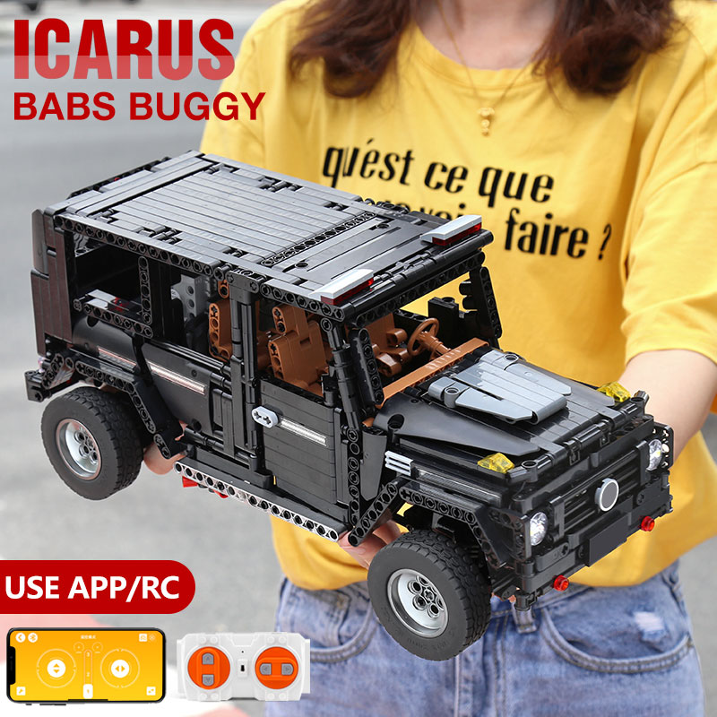 New APP RC G-Glass G500 AWD Wagon SUV Vehicle Fit Technic MOC 2425 Motor Power Function Building Blocks Bricks Toy Kid Birthday image