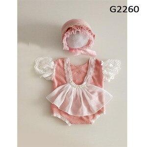 Реквизит для фотосъемки новорожденных, аксессуары для девочек, набор шапок, Детский комбинезон для студийной съемки, костюм для съемок для ...