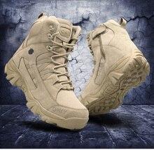 2020 militär Stiefeletten Männer Im Freien Echtem Leder Taktische Kampf Mann Stiefel Armee Jagd Arbeit Stiefel Für Männer Schuhe Casual bot