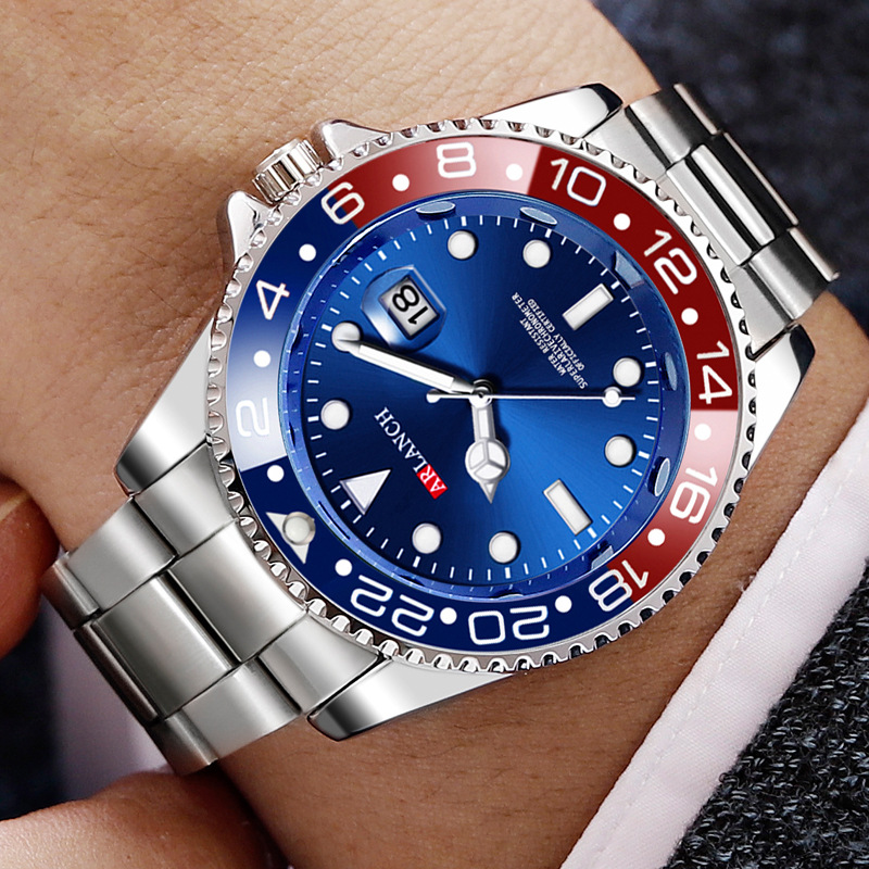 Top Brand Luxury Blue Men's Watch Waterproof Date Clock Male Sports Rolexable Watches Men Quartz Wrist Watch Relogio Masculino