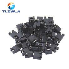 100 pces pino cabeçalho jumper blocos conector 2.54mm para 3 1/2 disco rígido unidade cd/dvd placa-mãe e/ou placa de expansão g25