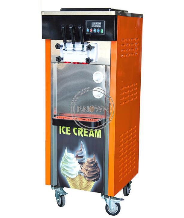 Machine de crème glacée commerciale de fabricant de crème glacée de la production élevée 25L/H machine molle de crème glacée de trois saveurs