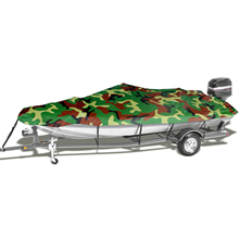 Boat Cover All weather Protection Full Covers with Adjustable Strip and Buckle Camouflage Style Yacht Outdoor Protection Cover