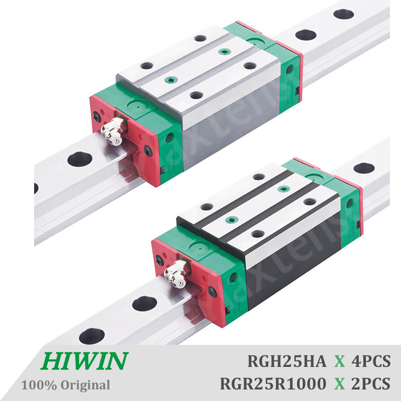 HIWIN RGH25 Block Linear Guides Rail 1000mm Machine Parts Set With Ballscrew For Z Axis CNC Machine Center Precision ZB Preload