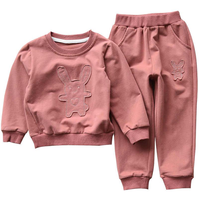 ฤดูใบไม้ร่วงหญิงเสื้อผ้าเด็กชุดเด็กเสื้อ + กางเกงกีฬาชุด2ชิ้นเสื้อผ้าเด็กผู้หญิงBB09