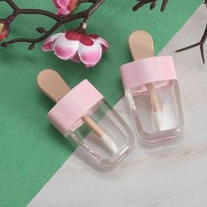 Image 4 - 10 個 8 ミリリットルリップグロスボトルリップ釉薬チューブ空ピンクアイスクリームリップグロスチューブ包装材料メイクdiyリップ釉薬