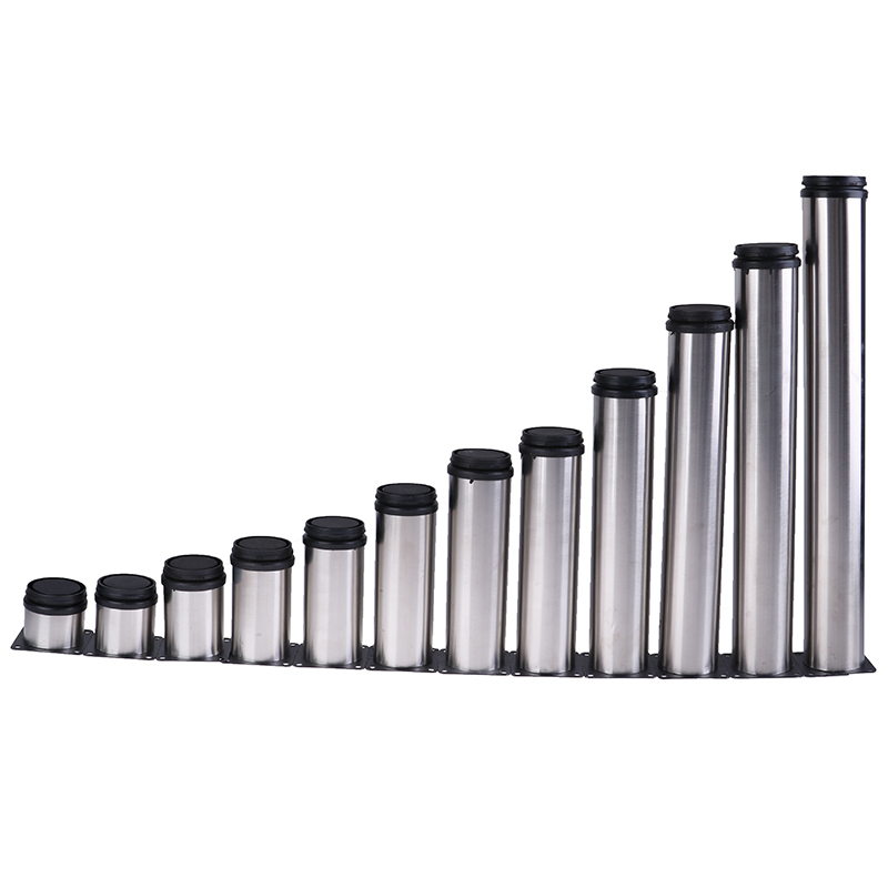 1pcs 12 Sizes Stainless Steel Furniture Leg Adjustable Cabinet Foot Round Tube Cabinet Table Sofa Bed Feet Furniture Legs Feet