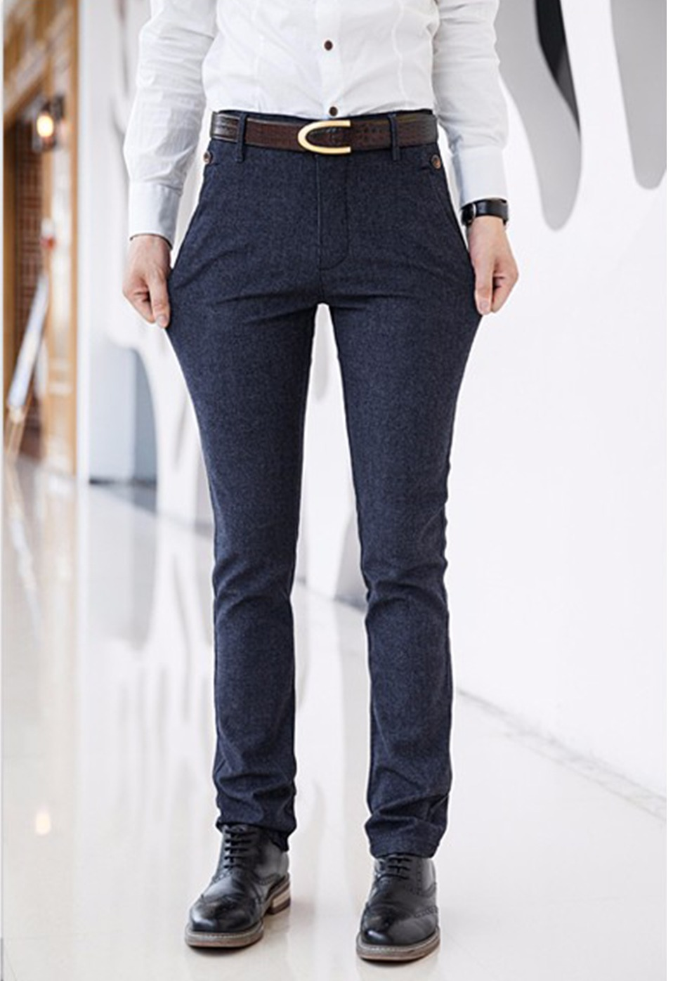 H9238b30394f44969886617a17967f47c9 HCYX Brand 2019 four season Classic High quality Men's Casual Pants Trousers Men Casual Pants Business Straight Size 38