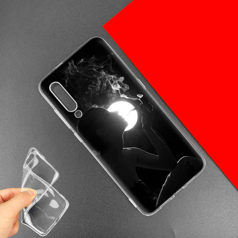 Курение Девушка эстетическое чехол для спортивной камеры Xiao mi Red mi 8A K20 Note 7 8 Pro фотоаппаратов моментальной печати 7S S2 6 6A 7A mi CC9 CC9E 9T A3 A1 A2 Lite F1 ТПУ чехол для телефона