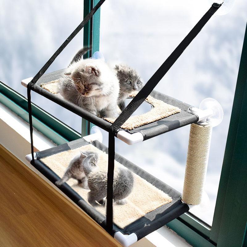 Sunshine Seat Pet Cat Breathable Hanging Pet Hammock Hammock Window Mounted Suction Cup Bed Cat Window Mounted Bed Pink