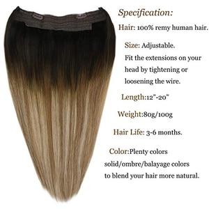 Image 5 - VeSunny One ที่มองไม่เห็น Halo Real Human Hair Flip พร้อมคลิป Balayage สี #6/60/6 สีน้ำตาลผสมสีบลอนด์