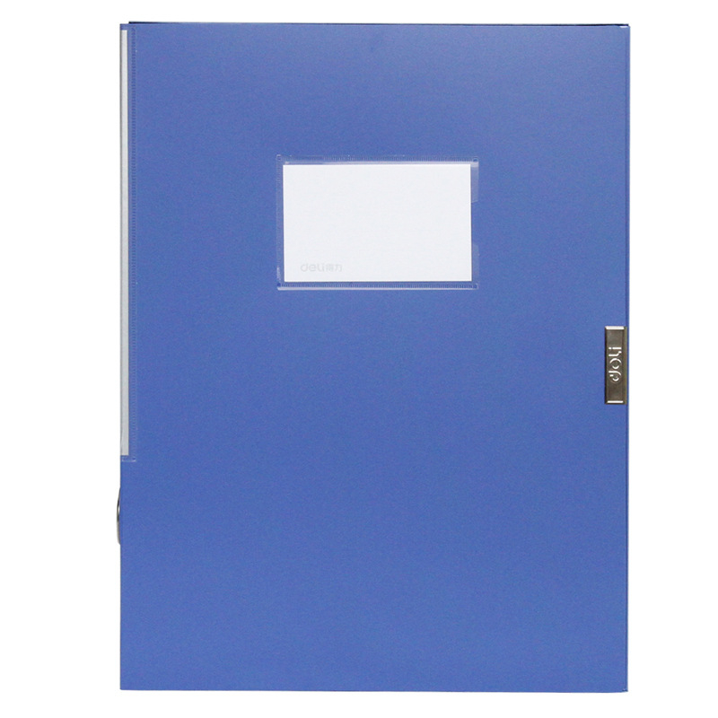 DL Good Office Power 5682 File Box Data Box Back Wide 35mm 2 Inch Blue Stationery Office Supplies For Students