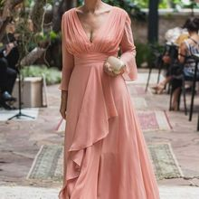 Mother of the Bride Dresses 2019 Peach C