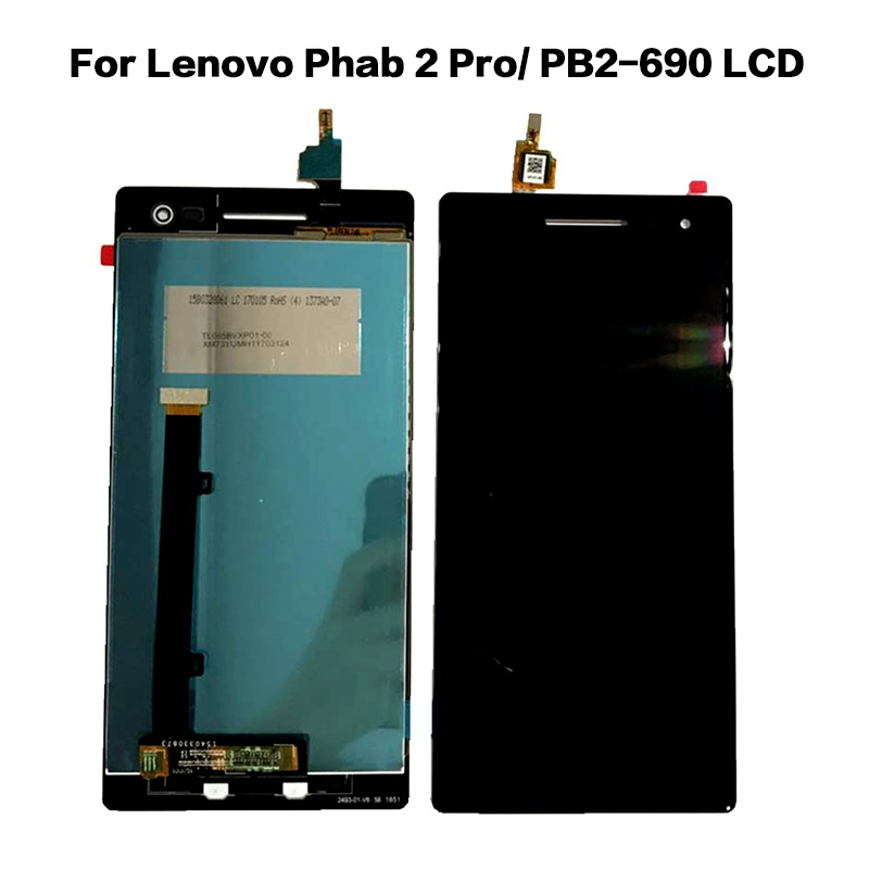 Original LCD For Lenovo Phab 2 Pro PB2-690 PB2-690M PB2-690Y Full LCD DIsplay + Touch Screen Digitizer Assembly 100% Tested 6.4