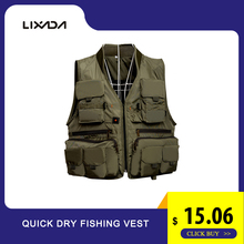 Fishing Vest Quick Dry Fly For Men Breathable Material Sport Vests Polyester Fiber Fish  Waistcoat