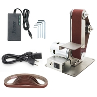 Diy Electric Mini Belt Sander Fixed Angle Sharpener Table Cutting Edge Machine Angle Grinder To Belt Sander Wood Metal Working 7