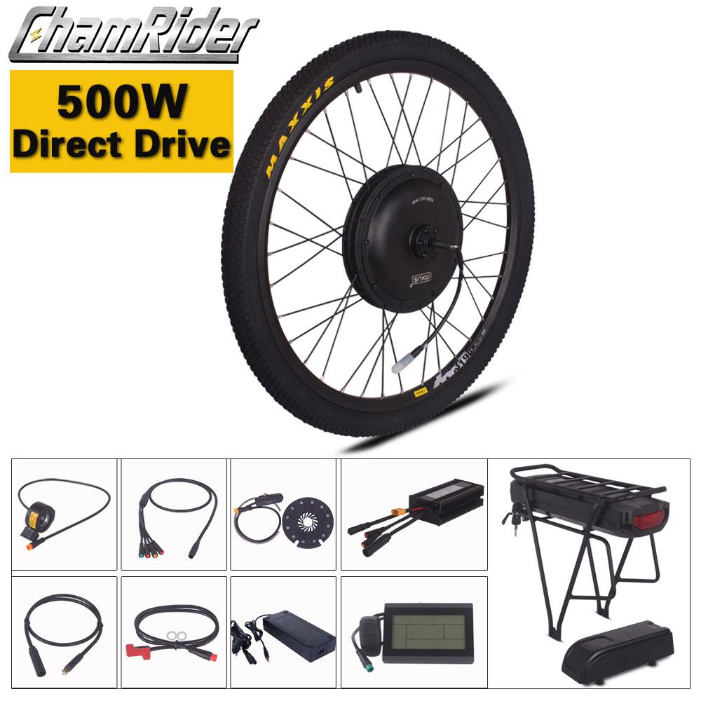 Chamrider ebike Kit Direct Drive 500W 36V 48V 52V font b Electric b font font b