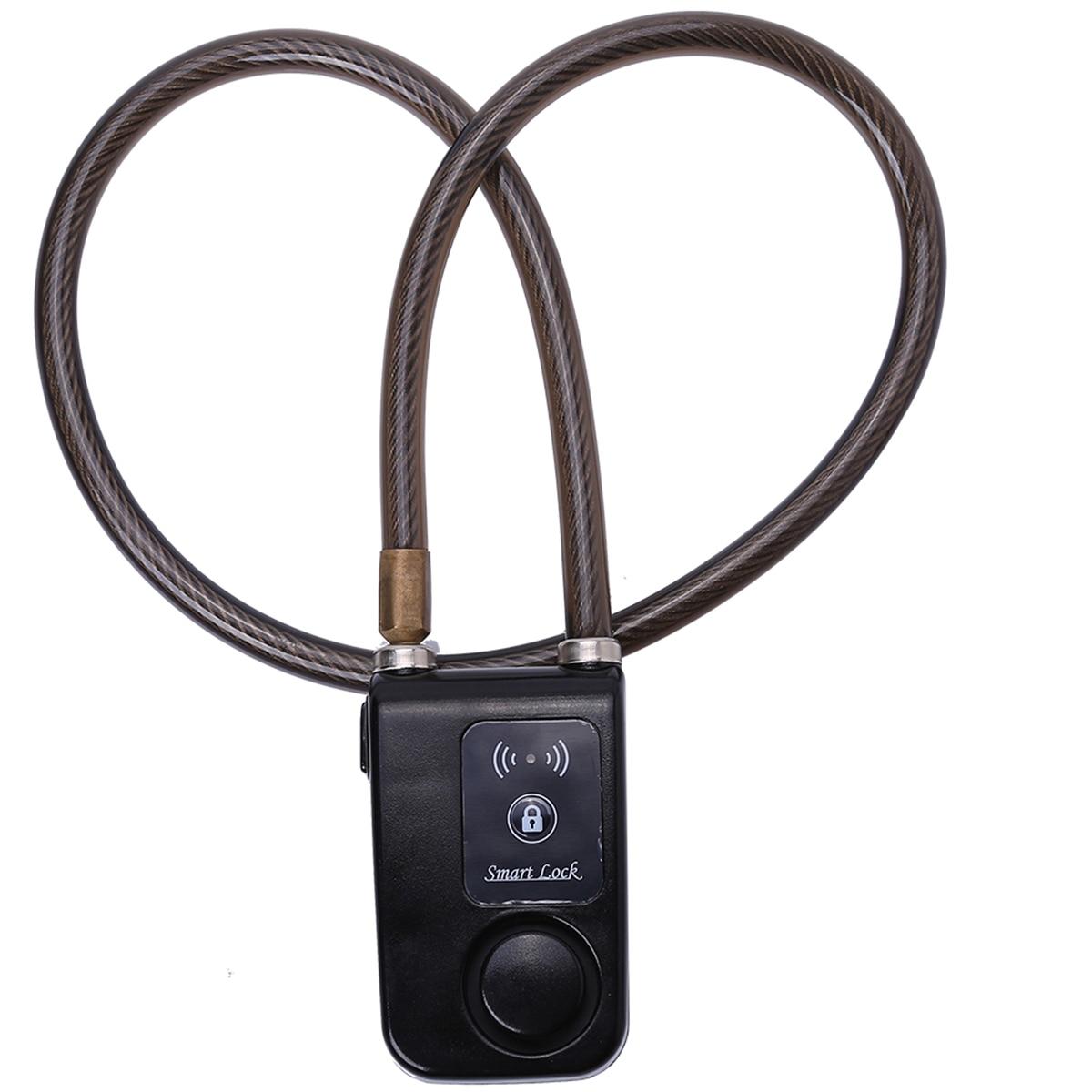 Приложение Управление умный замок Противоугонная цепь сигнализации замок с 105dB сигнализации умный Bluetooth замок для велосипеда сигнализации ...