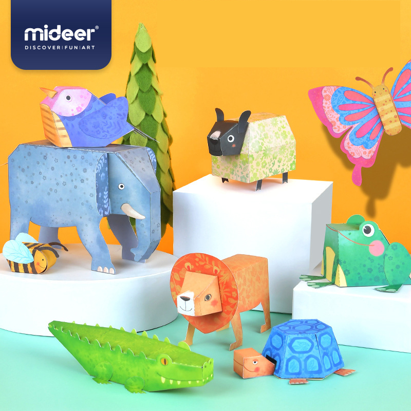MiDeer Manual DIY 3D Origami Paper Animals Origami Toys Kids Handicraft Toy Paper-cut Toys For Children 5Y+