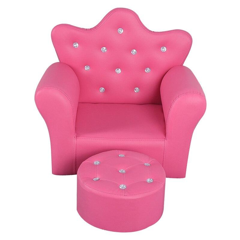 Korean Children Furniture Chair Quality Crown Combination Sofa With Stool Children Seat Sofa Set  58x40.5x48cm