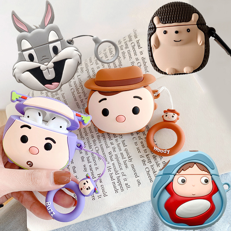 Earphone Case For Airpods 2 Silicone Cute Bear Cat Pig Dog