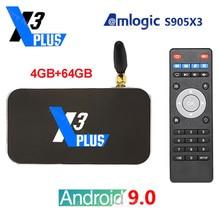 UGOOS X3 Plus X3 Pro X3 kostka Android 9.0 4K Smart Tv Box Amlogic S905X3 4GB 64GB 2.4G 5G Wifi 1000M LAN Bluetooth dekoder