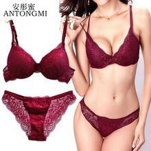 ANTONGMI Women Underwear Set Sexy Lace Bra Set Push Up Bra Set Sexy La