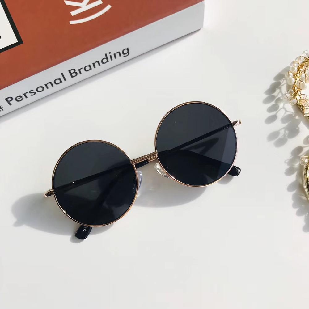 Moda occhiali da sole rotondi retrò donna occhiali da sole lenti in lega occhiali da sole per bambini occhiali da vista per donna occhiali da vista Driver accessori per auto 2