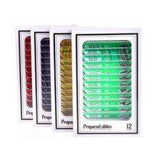 48 шт пластмассовые слайды для микроскопа Биологический образец