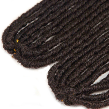 Synthetic Braiding Hair Extensions 18-26inch Ombre Brown Color X-TRESS Soft Straight Dreadlocks Faux Locs Crochet Braids Hair 1