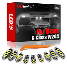 GBtuning Canbus LED Lumière Intérieure Kit 19 PIÈCES Pour Mercedes Benz Classe C W204 Berline C250 C280 C300 C350 C63 AMG 2008-2014 Lampe de voiture