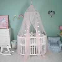 YUYU Kid Bedding Mosquito Net Romantic Round Bed Mosquito Net Bed Cover Hung Dome Bed Canopy For Kids Bedroom Nursery