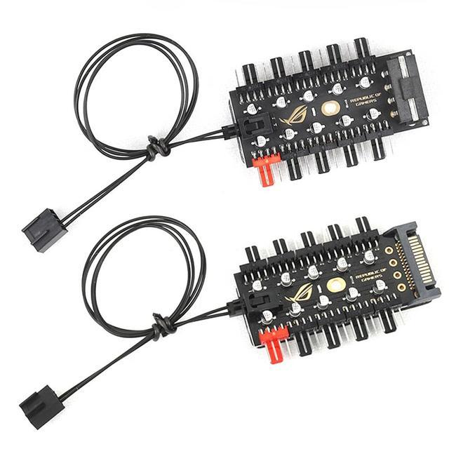 האם 1 כדי 10 4 פינים PWM Cooler מאוורר HUB ספליטר הארכת 12V SATA כוח/גדול 4D יציאת אספקת מחשב מהירות בקר מתאם
