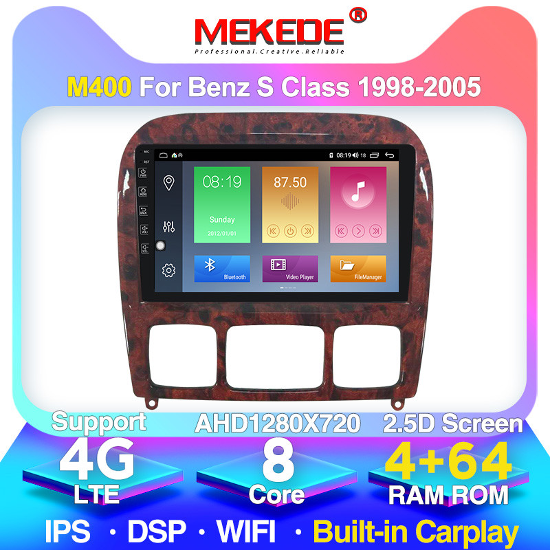 4G + 64G أندرويد 10.0 لمرسيدس بنز S Class W220 S280 S320 S350 S400 S430 S500 S600 1998-2005 راديو السيارة الوسائط المتعددة دي في دي