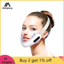 V rosto massageador led fóton terapia de luz ems levantamento facial rosto emagrecimento duplo queixo redutor anti envelhecimento cinto jaw exercitador