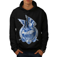 USA Navy Eagle Fashion Mens Hoodie, Wing Casual Hooded Sweatshirt