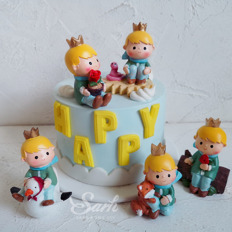 Incredible 1Pc Lovely Little Prince Children Kid Birthday Cake Decoration Personalised Birthday Cards Sponlily Jamesorg