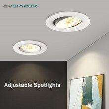 Встраиваемый светодиодный потолочный светильник с регулируемой яркостью 5 Вт 9 Вт 12 Вт потолочный светильник AC85-265V Светодиодный точечный светильник для гостиной спальни кухни