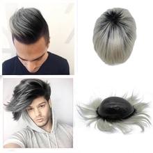 Phổ biến tùy chỉnh màu toupee T tóc sắc màu chân giả có thể làm cho bất kỳ cơ sở